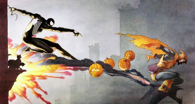Charles Vess' Spider-Man vs Hobgoblin