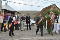 La ceremonia de depunere de coroane, alături de Horea Uioreanu, președintele CJ Cluj și primarii comunelor Gârbău, Sânpaul, Mărișel