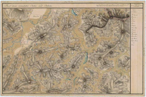 Apahida într-o hartă istorică