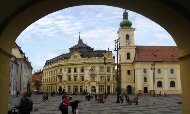 Piața Mare cu Muzeul Bruckentall