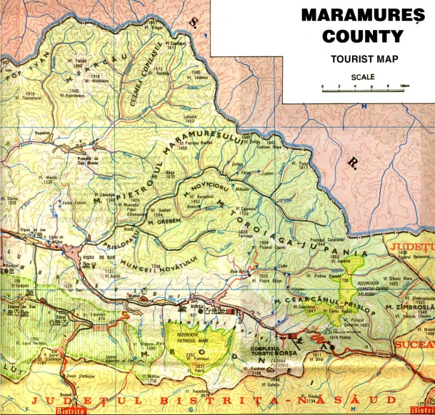 Harta Maramureșului Istoric