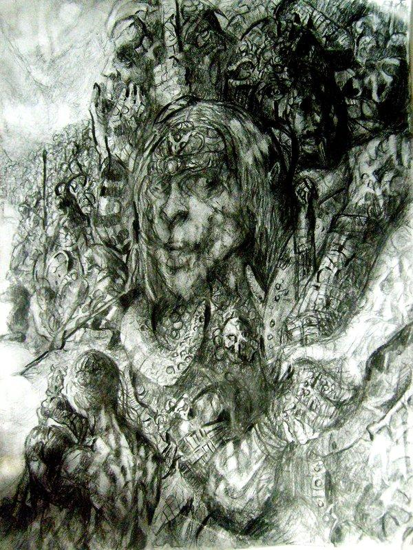 Bran Mak morn heather wolves by Pedro Elefante