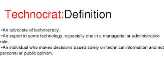 Technocrat-Motto