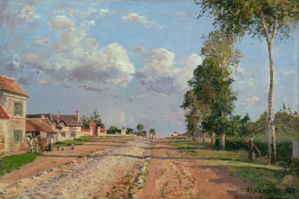 Camille Pissarro - Route de Versailles Rocquencourt
